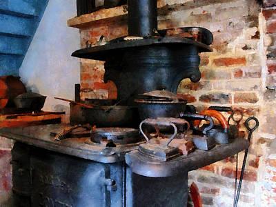 Savad Photograph - Irons Heating On Stove by Susan Savad