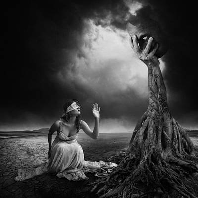 Dark Roots Photograph - Is There Anybody Out There? by Erik Brede