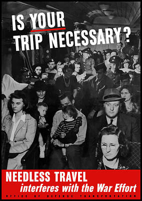 Patriotic Mixed Media - Is Your Trip Necessary by War Is Hell Store