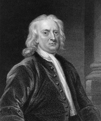 Newton Drawing - Isaac Newton by John Vanderbank