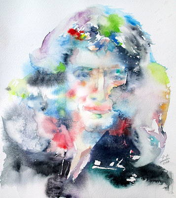 Isaac Newton Painting - Isaac Newton - Watercolor Portrait by Fabrizio Cassetta