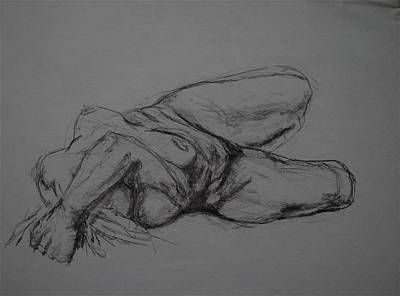 Male Nude Drawing Drawing - Ishta by Chris  Riley