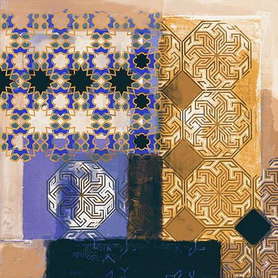 Celtic Art Painting - Islamic Motif II 441 4 by Mawra Tahreem