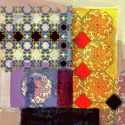 Celtic Art Painting - Islamic Motif II 441 1 by Mawra Tahreem