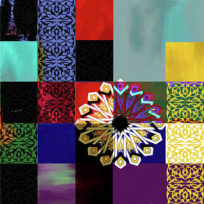 Celtic Art Painting - Islamic Motif V 444 1 by Mawra Tahreem