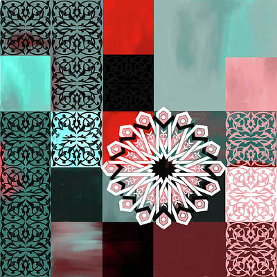 Celtic Art Painting - Islamic Motif V 444 2 by Mawra Tahreem