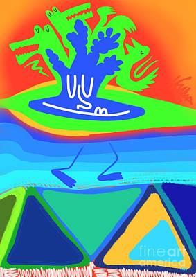 Sangha Digital Art - Island Chillin by Will Hoffman