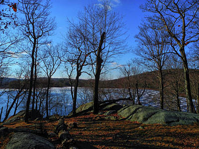 Island Pond In Harriman State Park Along The Appalachian Trail Print by Raymond Salani III