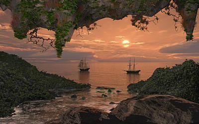 Island Retreat Print by Mary Almond