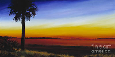 Palmettos Painting - Island River Palmetto by James Christopher Hill