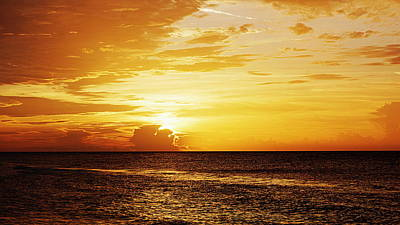 Island Sunrise Print by Paul  Wilford