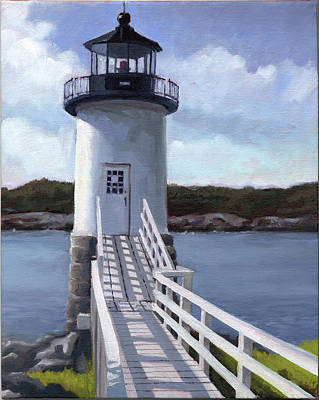 Maine Painting - Isle Au Haut Lighthouse by Todd Baxter