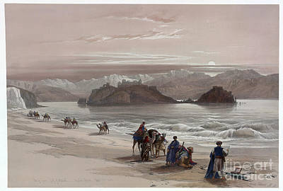 Isle Of Graia Gulf Of Akabah Arabia Petraea Print by Celestial Images