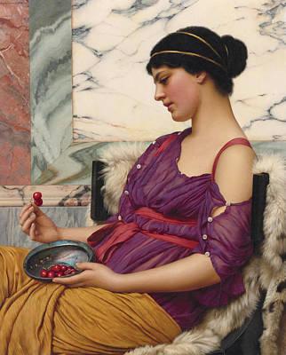 John William Godward Painting - Ismenia by John William Godward