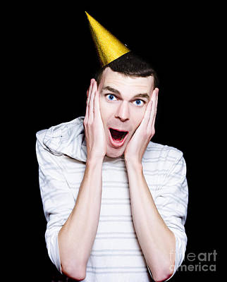 Isolated Young Man At A Surprise Birthday Party Print by Jorgo Photography - Wall Art Gallery