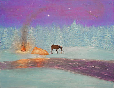 Horse Painting - Isolation by Ken Figurski