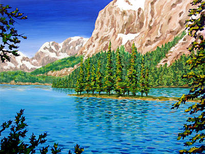 Lake Painting - Isolation by Patrick Parker