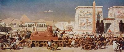 Israel In Egypt. From The Painting By Print by Vintage Design Pics