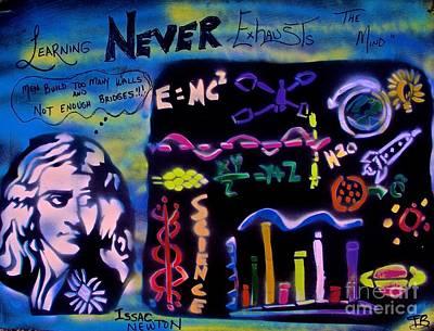 Conscious Painting - Isaac Newton by Tony B Conscious