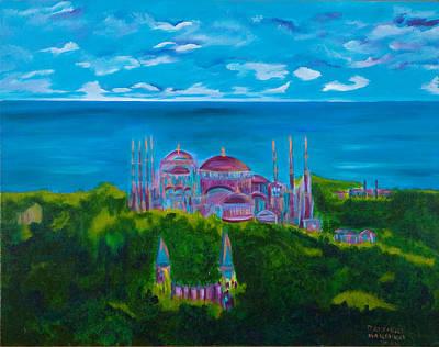 Istanbul Skyline Print by Dani Altieri Marinucci