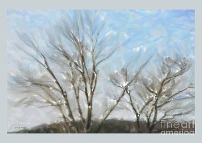 It Is Cold Outside Print by Gerlinde Keating - Galleria GK Keating Associates Inc