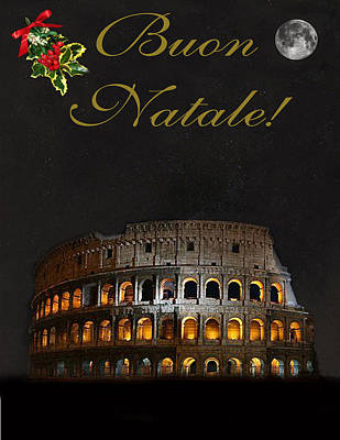 Special Occasion Mixed Media - Italian Christmas Card Rome by Eric Kempson