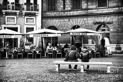 Outdoor Cafes Photograph - Italian Dining by John Rizzuto