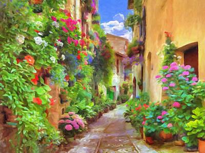 Italian Flowers Print by Impressionist Art
