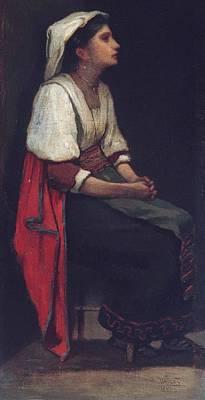 William Morris Hunt Painting - Italian Girl by William Morris Hunt