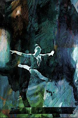 Gymnasts Digital Art - Italian Gymnast by Jean Francois Gil