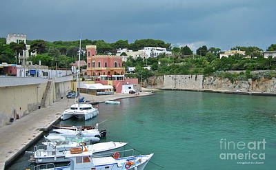 Italian Harbor - Puglia Print by Italian Art