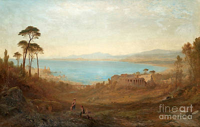 Italian Landscape Painting - Italian Landscape With Ruins by Celestial Images