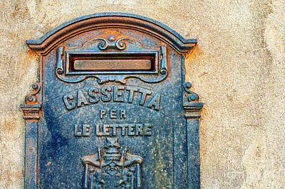 Letter Box Photograph - Italian Mailbox by Silvia Ganora