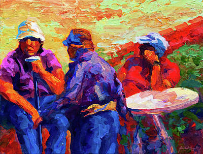 Contemporary Beach Painting - Italian Retirement by Marion Rose
