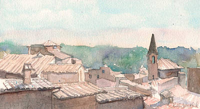 Rooftops Painting - Italian Rooftops by Kelly Medford