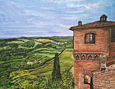 Italy Print by Jennifer Campbell Brewer