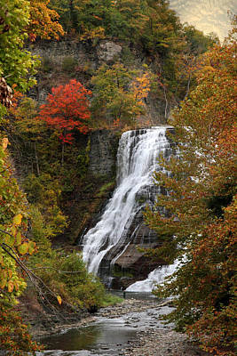 Ithaca Falls Print by Jessica Jenney