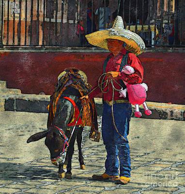 Mexicano Photograph - It's A Job by John  Kolenberg