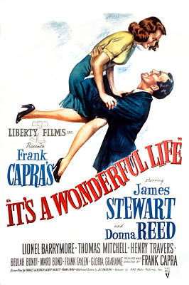 Its A Wonderful Life, Donna Reed, James Print by Everett