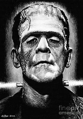 Frankenstein Drawing - Its Alive by Andrew Read