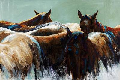 Abstract Horse Painting - Its All About The Brush Stroke by Frances Marino