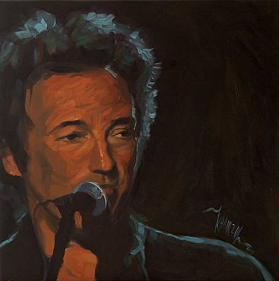 It's Boss Time - Bruce Springsteen Portrait Print by Khairzul MG
