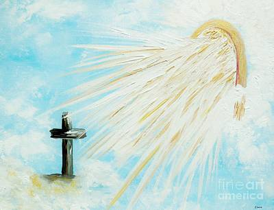 Cross Painting - It's Impossible To Outgive God by Eloise Schneider