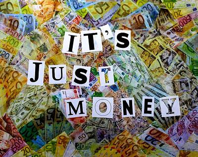 Assemblage Mixed Media - It's Just Money II by John  Nolan