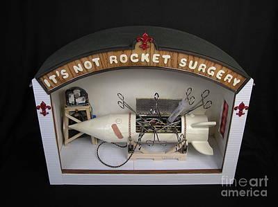 Czappa Sculpture - It's Not Rocket Surgery by Bill Czappa