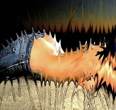Abstractz Digital Art - Itz Horny... by Piety Dsilva