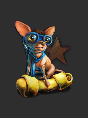 Chihuahua Digital Art - I've Got Mine For Dark Colors by Vanessa Bates