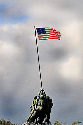 Us Flag Photograph - Iwo Jima by Lyle  Huisken