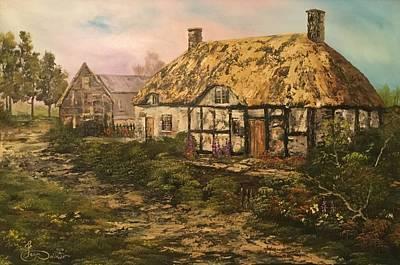 Izzac Waltons  Cottage Original by Jean Walker