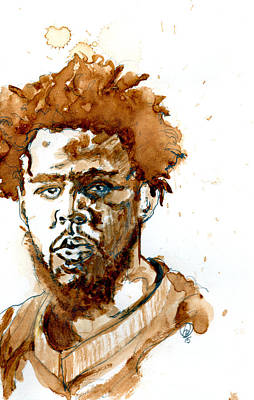 J Cole Print by Howard Barry